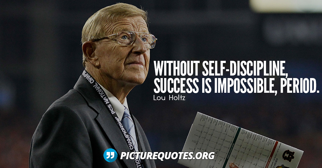 Lou Holtz Quote